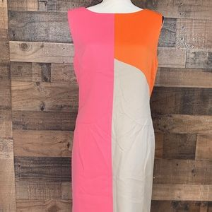 NWTahari Arthur S. Levine Color Block Shift Dress